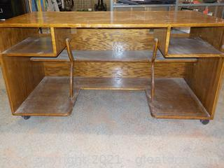 Beautiful Handmade, Rolling Office/Student Desk  See All Pictures