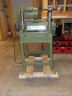 """Lobo 15"""" Planer, Attached to Flat Rolling Dolly"""