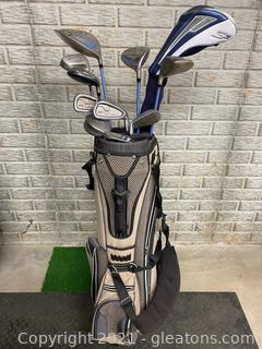 Golf Bag with New Like King Cobra Clubs