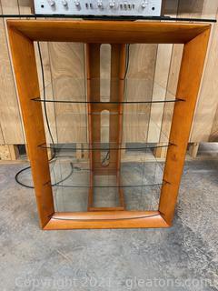 Wood & Glass Display/ Media Shelving