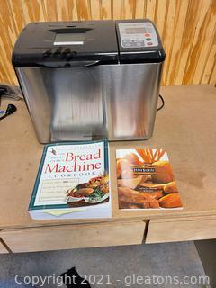 """Williams Sonoma Bread Machine & """"The Bread Lover's Bread Machine Cookbook"""""""