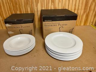 World Market Porcelain Stacking Plates (Lot of 12)