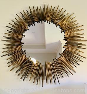 Stunning Starburst Circular Wall Mirror