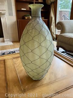 Beautiful Wire Wrapped Glass Vase