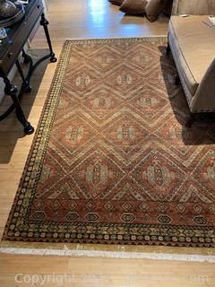 Charming Rust Colored Rug