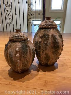 Beautiful Ceramic Lidded Vases