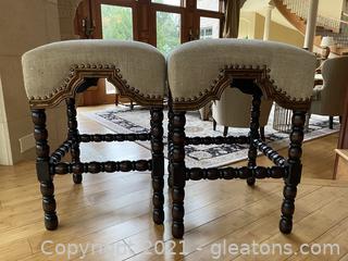 Pair of Noir Furniture Stools