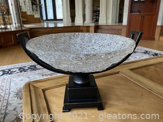 Crystal Palace Decorative Centerpiece Crystal Bowl on a Metal Stand