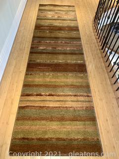 Feizy Contour Collection Fine Striped Runner