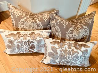 4 Tapestry Designed Accent Pillows