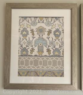 Moroccan Patterned Framed Wall Print