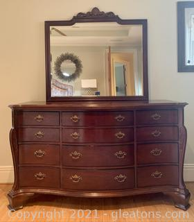 The Palmer Home Collection by Lexington 12 Drawer Dresser with Mirror