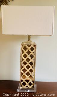 Moroccan Designed Mirrored Table Lamp