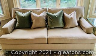 Ethan Allen Feather Blend Sofa
