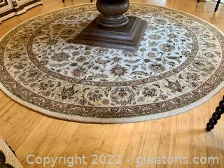 Feizy High Pile Wool Round Area Rug