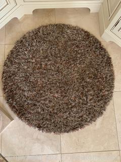 Charming Circular Shaggy Area Rug