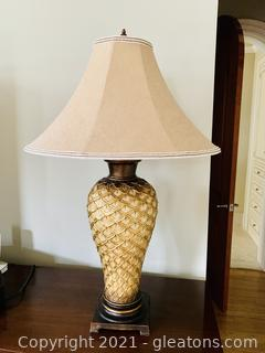 Perfect Pineapple Styled Tall Table Lamp