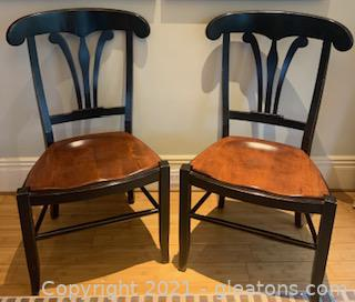 Pair of Nicholas and Stone Country Manor Side Chairs
