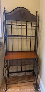 Powell Metal Bakers Rack with Rooster Motif