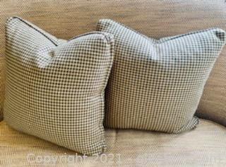 2 Classic Houndstooth Accent Pillows