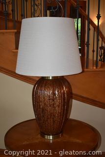 Modern Ribbed Ceramic Table Lamp