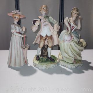 3 Lovely Porcelain Figurines