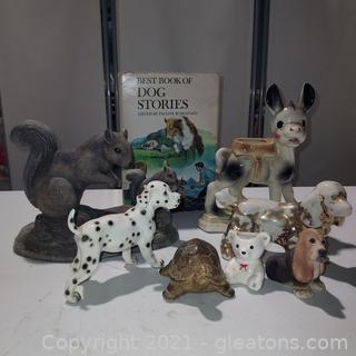 Precious Lot of Cute Animals – 7 Pieces Plus a Dog Story Book