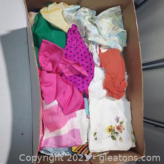Scarves and Handkerchiefs for the 60's and 70's
