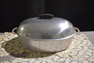 Oval Cast Aluminum Dutch Oven with Lid