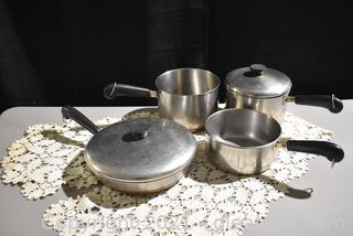 Revere Ware Pots / lids & Frying Pan