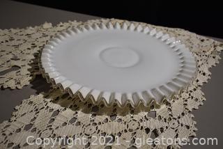 Fenton Serving Plate /Torte Plate in Silvercrest