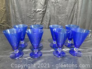 "Bryce Aristocrat 6"" Tall Cobalt Blue Glasses"