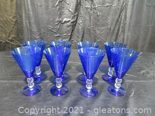 "Bryce Aristocrat 7"" Tall Cobalt Blue Glasses"