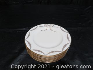 8 Lenox Presentation Ivory Dessert Plates