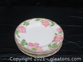 Lot of 5 Franciscan Desert Rose Dinner Plates Made in England