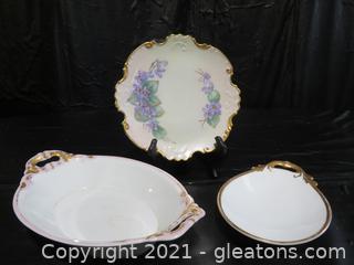 Vintage Schwarzburg Porcelain Serving Dishes and More