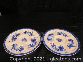 Two Charming Villeroy and Boch Selma Relish Dishes