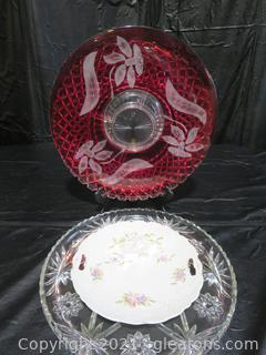 Four Serving Trays