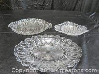 Three Crystal Platters