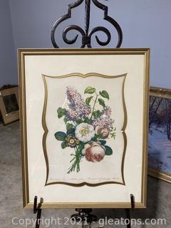 Floral Color Lithograph