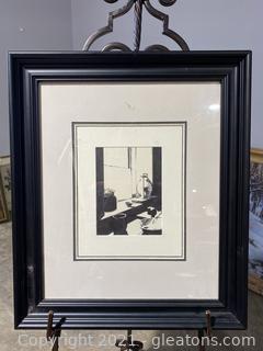 Monochrome Picture of a Kitchen Interior