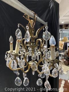 Beautiful Antique Brass 5Lt Chandelier