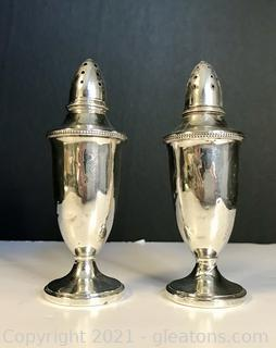 Sterling Silver Salt and Pepper Shaker set by M. Fred Hirsch