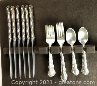 """Reed & Barton """"Tara"""" Sterling Silver Flatware - 4pc. Place Setting for 6"""