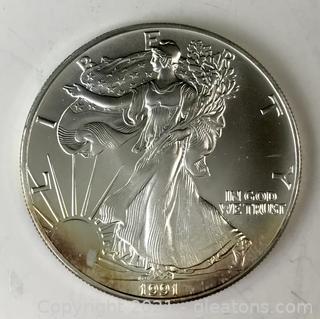 1991 American Silver Eagle BU Coin