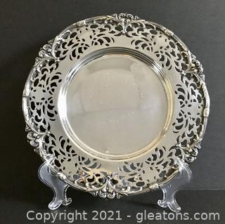 Unger Bros. Art Nouveau Sterling Silver Tray