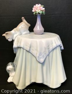 "LLADRÓ Porcelain Figurine ""Playful Mates"" (6980) with Box"