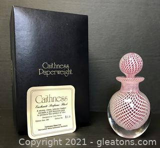 "Limited Edition Caithness ""Enchanté"" Perfume Flask with Box"