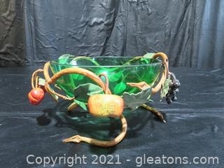 Beautiful Vine and Fruit Bowl Made in Italy