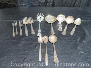 Miscellaneous Silver Plate Utensils